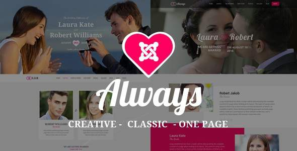 ALWAYS – Responsive Joomla Wedding Template With Page Builder            TFx Riley Stanley