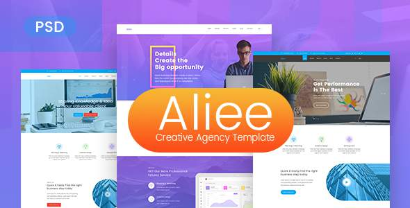 Aliee - Creative Agency PSD Template            TFx Gary Wardell