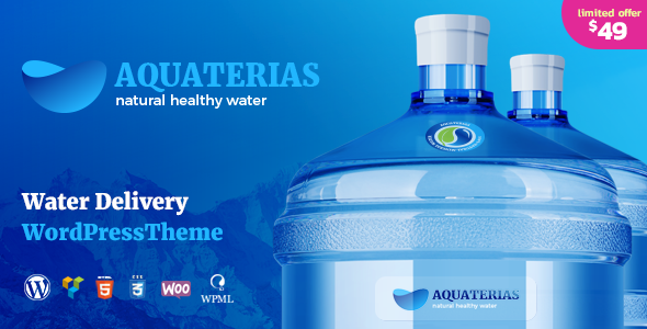 Aquaterias - Drink Water Delivery WordPress Theme            TFx Stacy Saxon