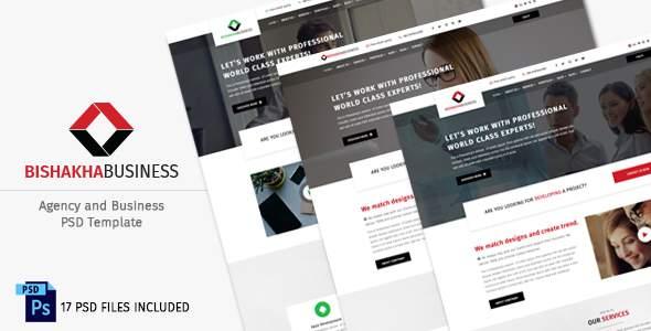 Bishakha - Business and Agency PSD Template            TFx Ryoichi Ararat