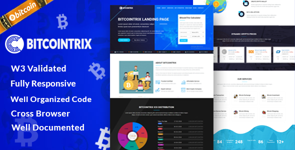 BitcoinTrix | Bitcoin and Cryptocurrency Landing Page            TFx Tasunka Yancy