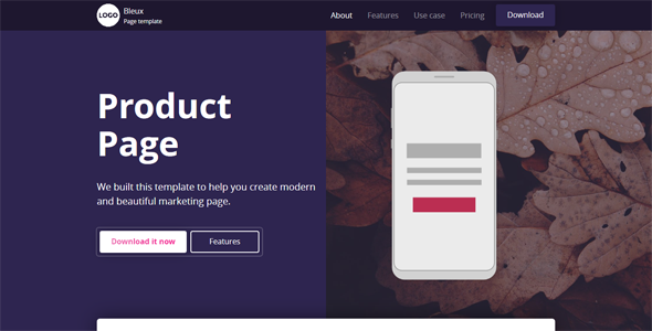 Bleux - App, Product and Technology Landing Page            TFx Ashkii Aleksandr