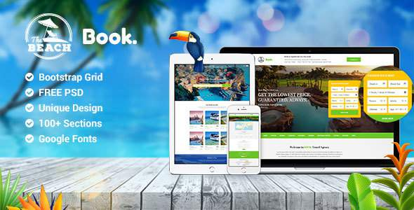 Book Multipurpose Travel Hotel & Resort PSD Template            TFx Ted Rafferty