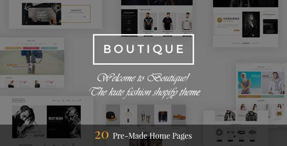 Boutique - Multipurpose Responsive Shopify Theme            TFx Keegan Jonathan
