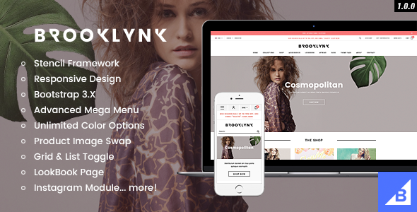 Brooklynk - Premium Responsive Fashion Bigccommerce Template            TFx Rex Landon