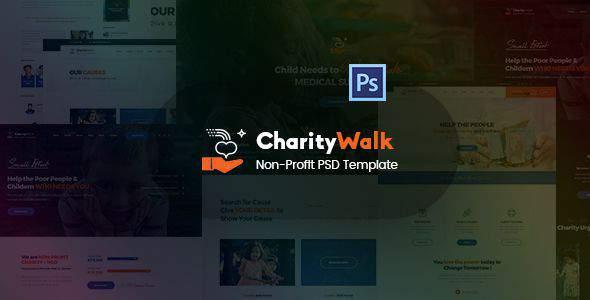 Charity Walk - Multipurpose Nonprofit PSD Template            TFx Jarod Darian