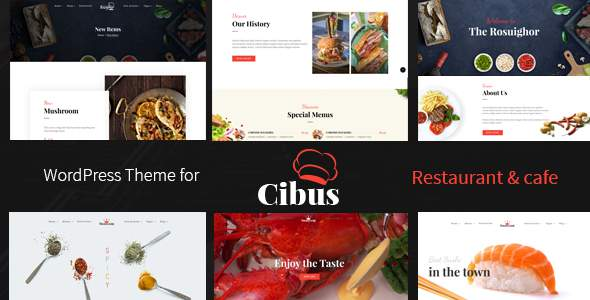 Cibus - Restaurant & Cafe WordPress Theme            TFx Seward Chesley