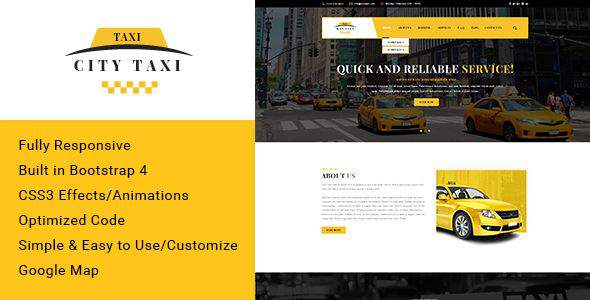 Citytaxi - Bootstrap 4 HTML Template for Taxi            TFx Wystan Meriwether