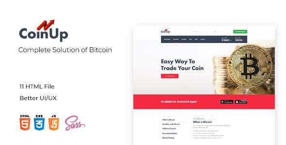 Coinup Compleate Solution of Bitcolin HTML and Sass Template            TFx Katsuro Vincent