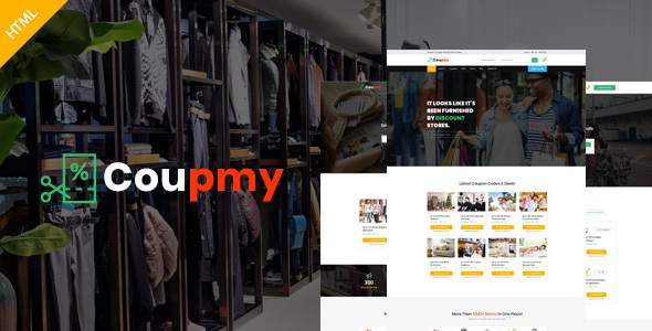 Coupmy-Coupons, Affiliates, Offers, Deals, Discounts & Marketplace HTML Template            TFx Garth Kennedy