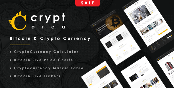 Cryptarea – Bitcoin And Crypto Currency HTML Template            TFx Guntur Dexter