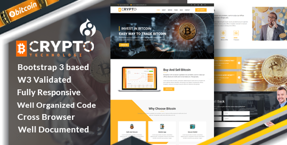 Crypto – Bitcoin Crypto Currency Drupal 8.4 Theme            TFx Freddie Kennith