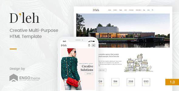 D'leh – Creative Multi-Purpose HTML Template            TFx Haruto Tayler