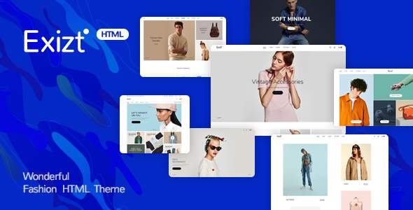 Exist - Wonderful Fashion HTML  Template            TFx Maynerd Keir