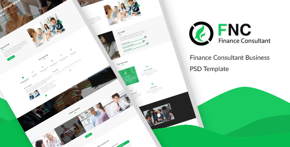 FNC - Finance & Consulting, Accounting PSD Template            TFx Roosevelt Steve