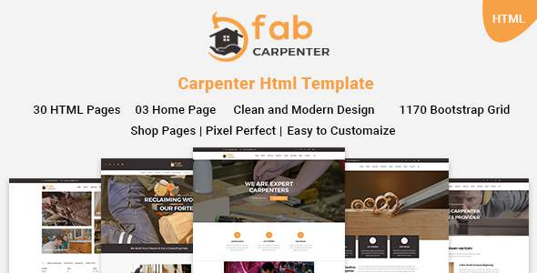 Fab Carpenter | Carpenter, Wood Carpentry HTML5 Template            TFx Johnathan Peyton