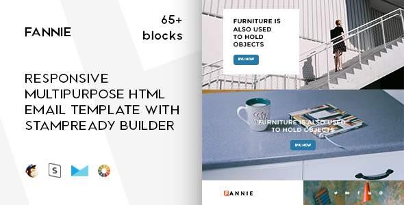 Fannie – 65+ Modules - Responsive Email + StampReady Builder & Mailchimp Editor            TFx Geghard Wilson
