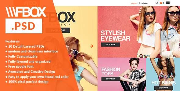 Fbox Fashion E Commerce PSD Web Template            TFx Jae Shenandoah