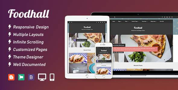 Foodhall Responsive Food Blogger Theme            TFx Wright Ararat