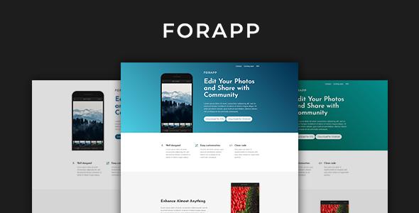 Forapp – App Landing Page Template            TFx Reid Joyce