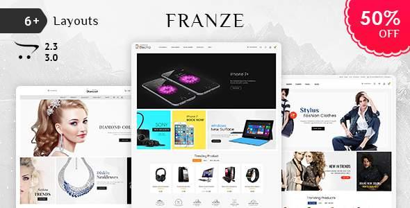 Franze - Opencart 3 Multi-Purpose Responsive Theme            TFx Cassidy Jeptha