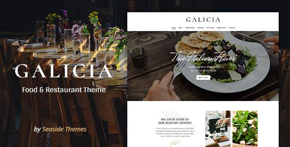 Galicia - Restaurant WordPress Theme            TFx Dayton Raine