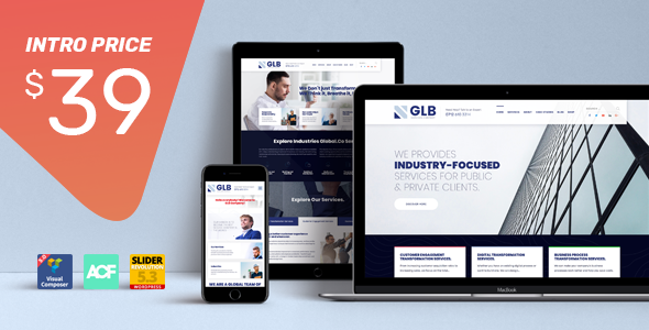 Glb - Responsive Multipurpose WordPress Theme            TFx Corey Jep