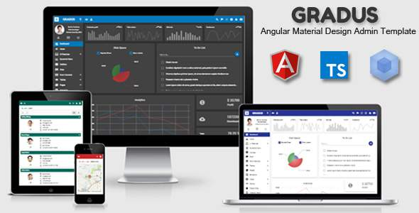 Gradus - Angular 5 Material Design Admin Template            TFx Lindon Fabian