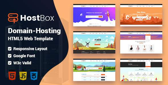 HOSTbox - WHMCS & HTML Responsive Professional Clean and Creative Hosting and multipurpose Template            TFx Drogo Gus