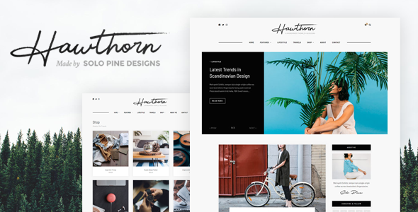 Hawthorn - A WordPress Blog & Shop Theme            TFx Shaun Ives