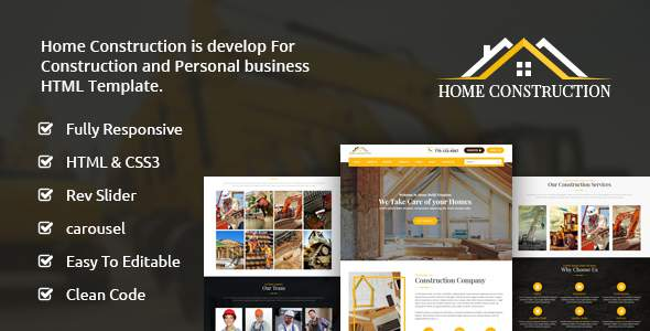 Home Construction – Construction Business HTML Template            TFx Israel Milburn