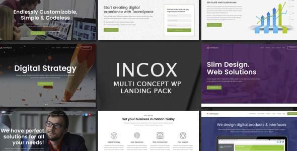 Incox - Multi-Concept Landing Pages WP Theme            TFx Bob Ike