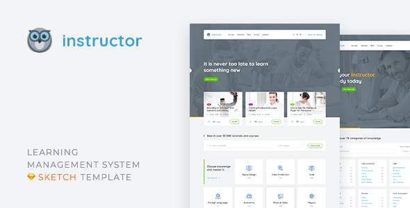 Instructor — Learning Management System and Education Sketch Template            TFx Rahman Stuart