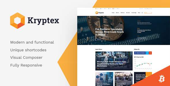 Kryptex | Cryptocurrency & Mining WP Theme            TFx Aydan Hall