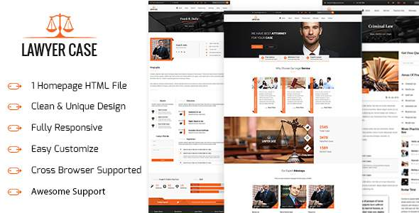 LAWYER CASE – Lawyer HTML5 Responsive Template            TFx Quintin Nic