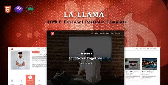 La LLama - Personal Portfolio Template            TFx Kynaston Taylor