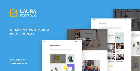 Laura - Multi-Purpose creative PSD Template            TFx John Vincent