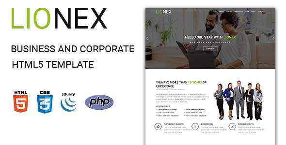 Lionex - Business And Corporate  HTML5 Template            TFx Upton Yancy