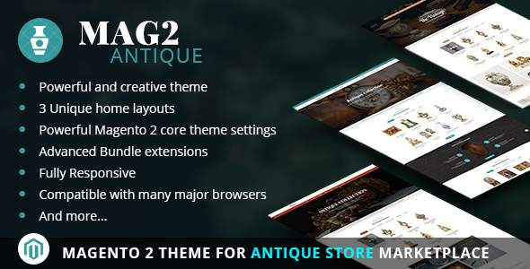 Mag2Antique – Magento 2 Theme for Antique Store Marketplace            TFx Jae Benny