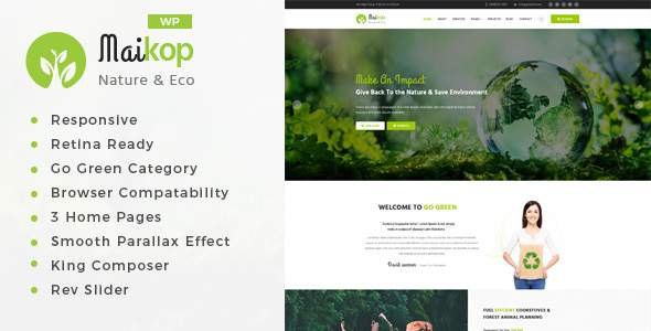 Maikop - Environment WordPress Theme            TFx Rigby Mikey