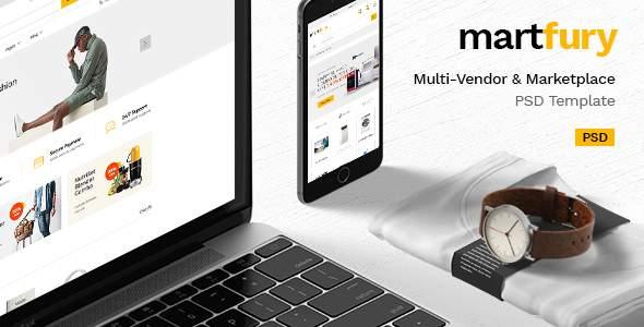 MartFury | Multi-Vendor & Marketplace eCommerce PSD Template            TFx Darion Jem