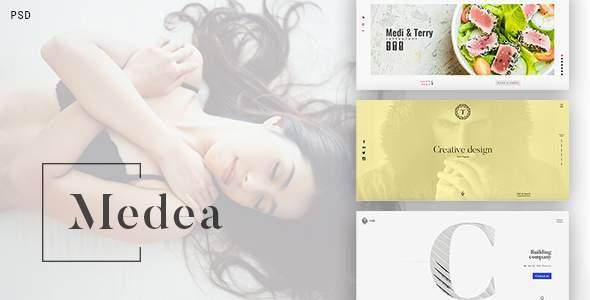 Medea - PSD Template  for Corporation, Portfolio, Restaurant, Cafe            TFx Crawford Eli