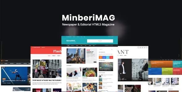 MinberiMag - Newspaper & Editorial HTML5 Magazine            TFx Eliot Lewin