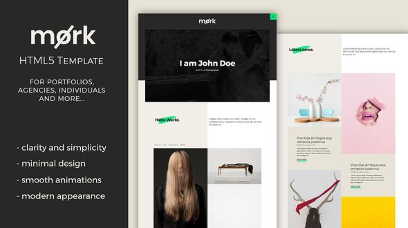 Mork - Minimal HTML5 Template            TFx Kasey Ern