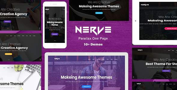 Nerve - Parallax One Page            TFx German Lindon