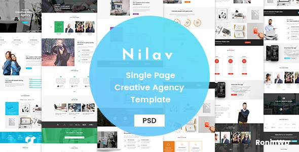 Nilav - Single Page Creative Agency PSD Template            TFx Boniface Crawford