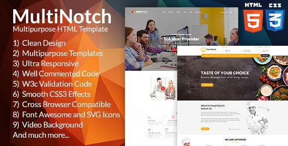 Notch Multipurpose HTML Template; Creative, Modern & Functional            TFx Kennith Yolotl