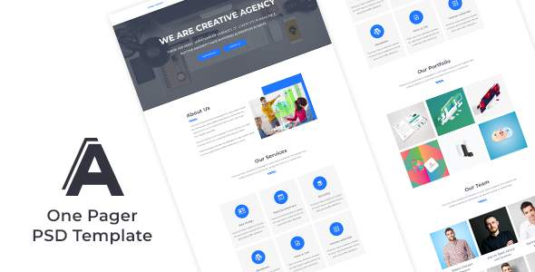 One Pager Creative Agency Website Design            TFx Kaoru Sunny