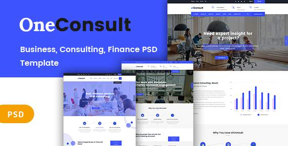 OneConsult  - Business Consulting and Finance PSD Template            TFx Hervey Harve