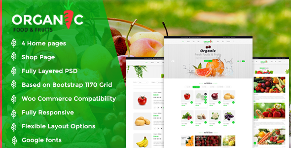 Organic Food and Fruits Template            TFx Maddox Biff